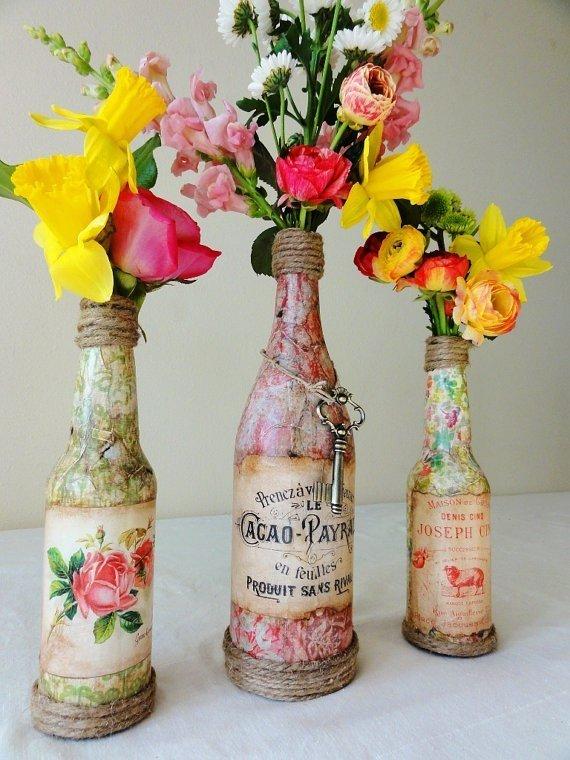 Вазы для цветов своими руками из бутылок
