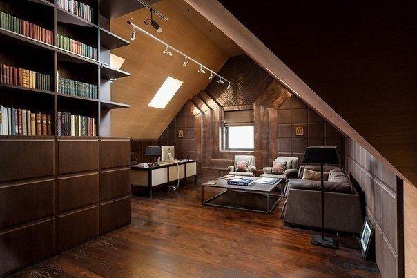 Кабинет на мансарде дизайн