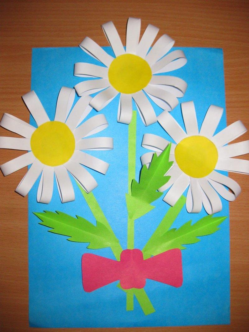 Открытки из бумаги сделанные детьми 188