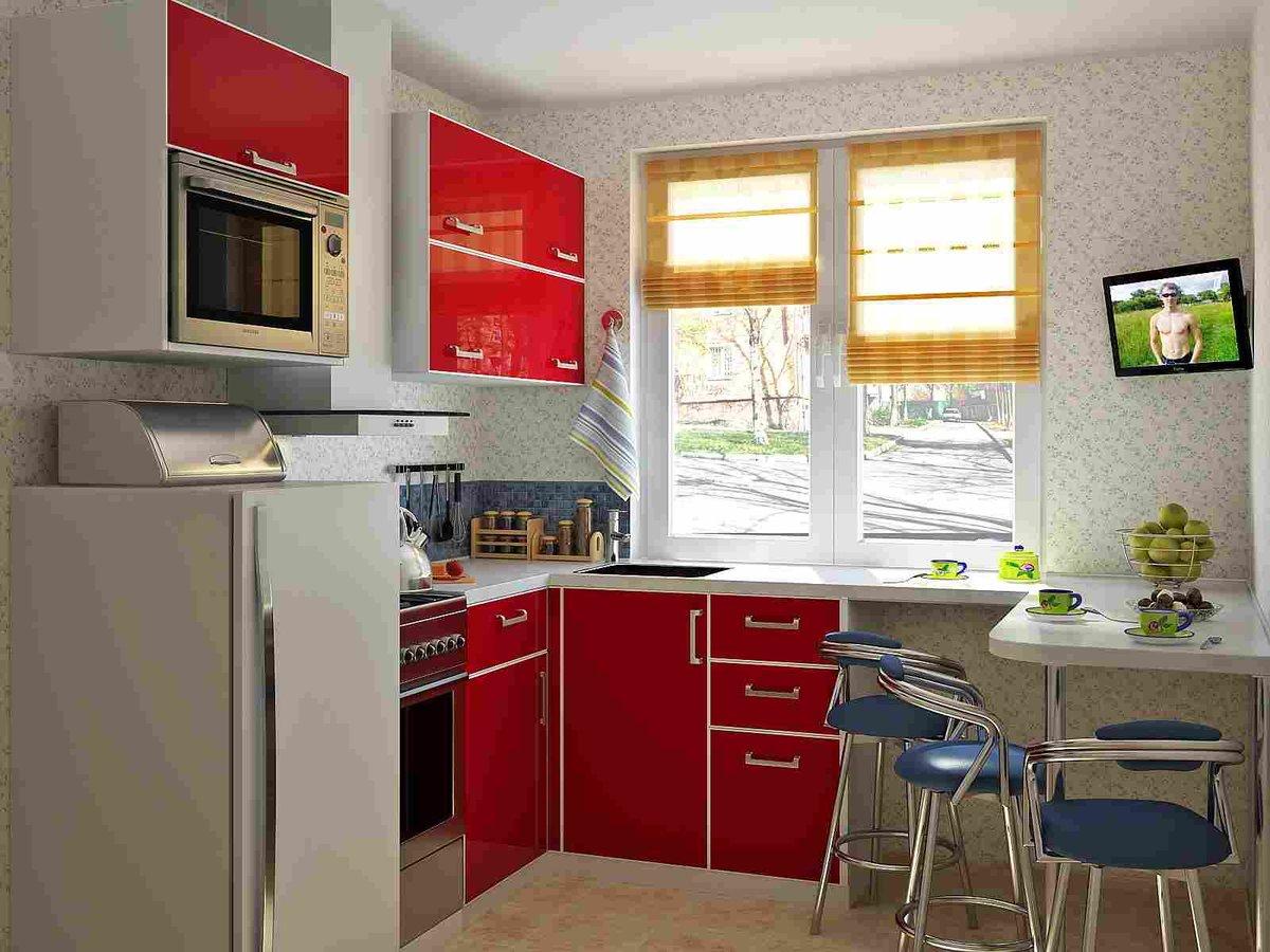 Как сделать кухню 5 метров фото