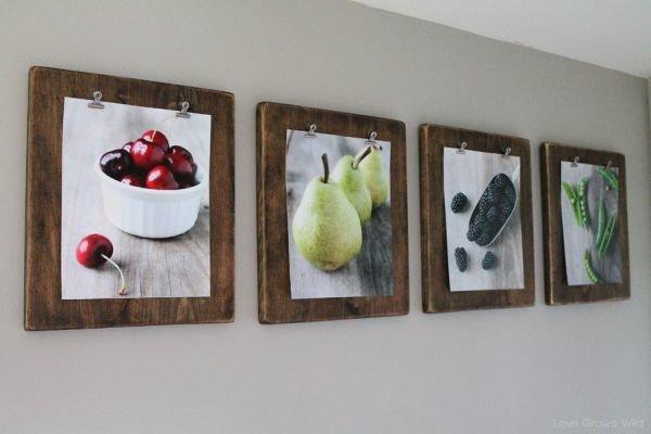 Рамки для фото на кухню своими руками 134