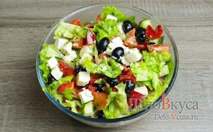 приготовить греческий салат дома рецепт с фото