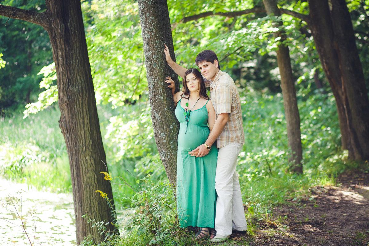 Беременная в лесу фото 44