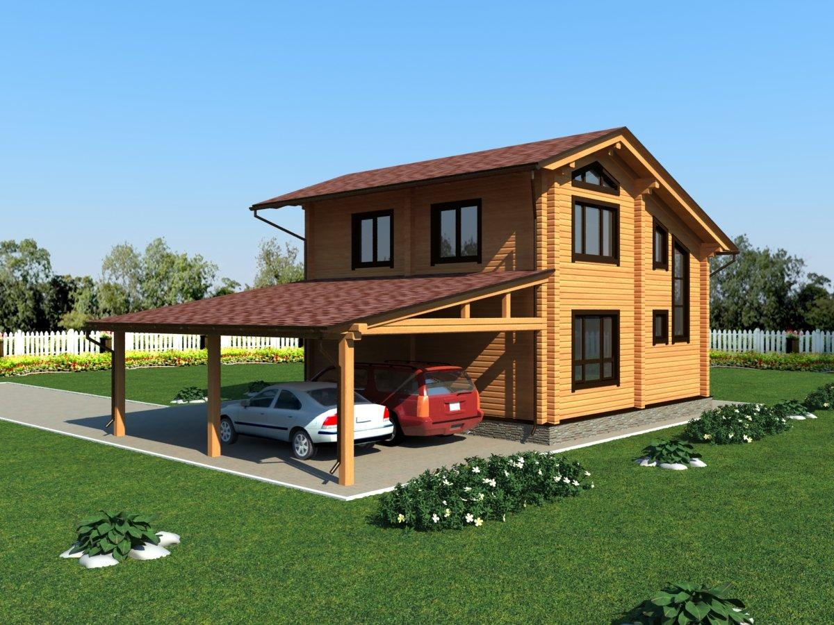 Проекты двухэтажных домов из бруса своими руками