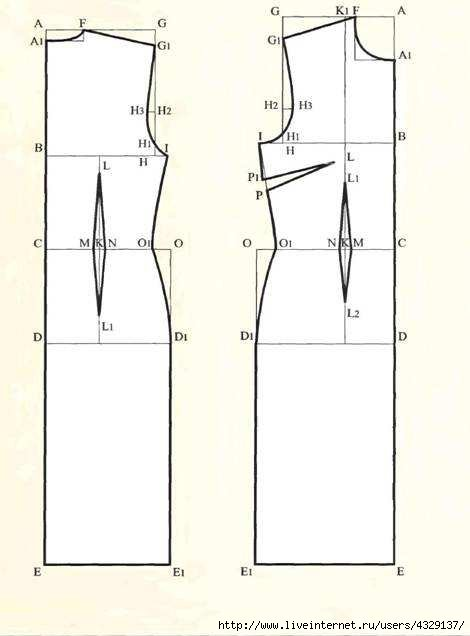 Как на платье сделать вытачки на спине платья 357