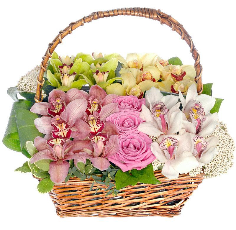 Картинки корзины с цветами