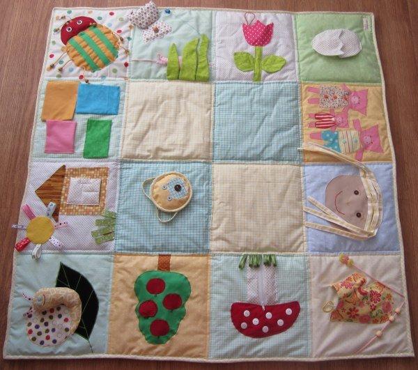 Как сшить развивающий коврик для малыша своими руками