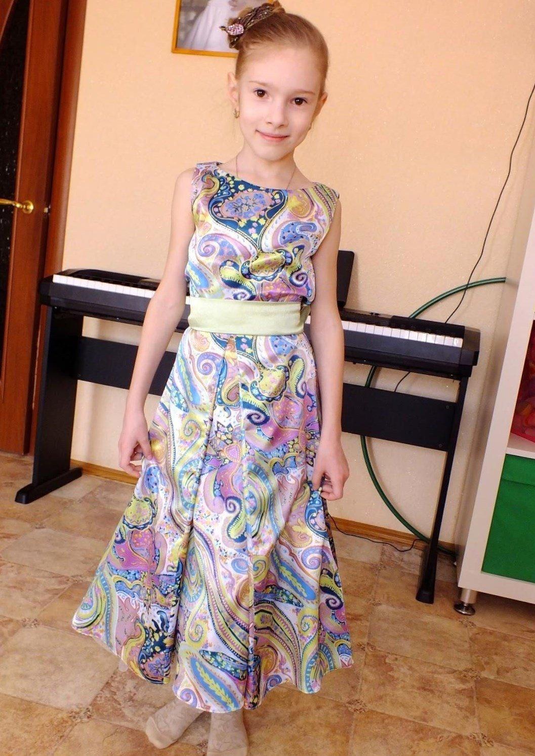 Длинное платье для девочек своими руками 71