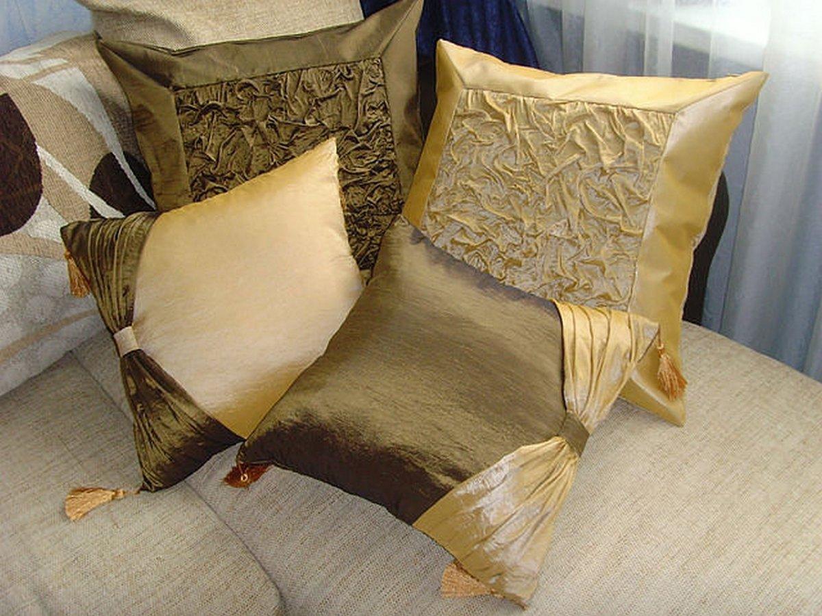 Декоративная подушка для дивана своими руками 74