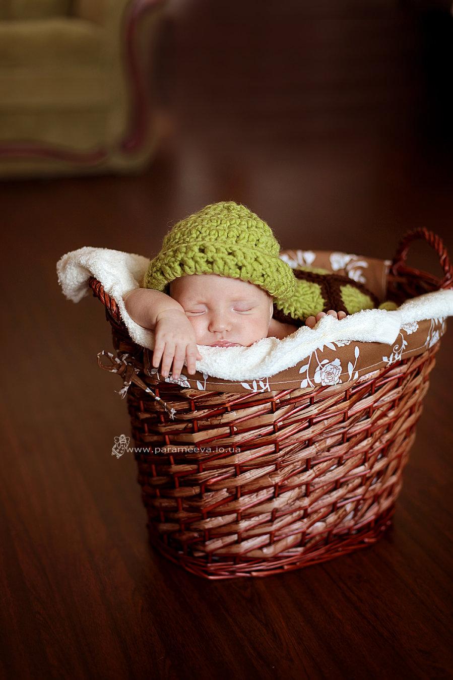 Ребенка в корзине фото