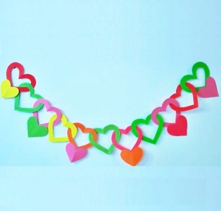 Гирлянды сердечками из бумаги своими руками 82