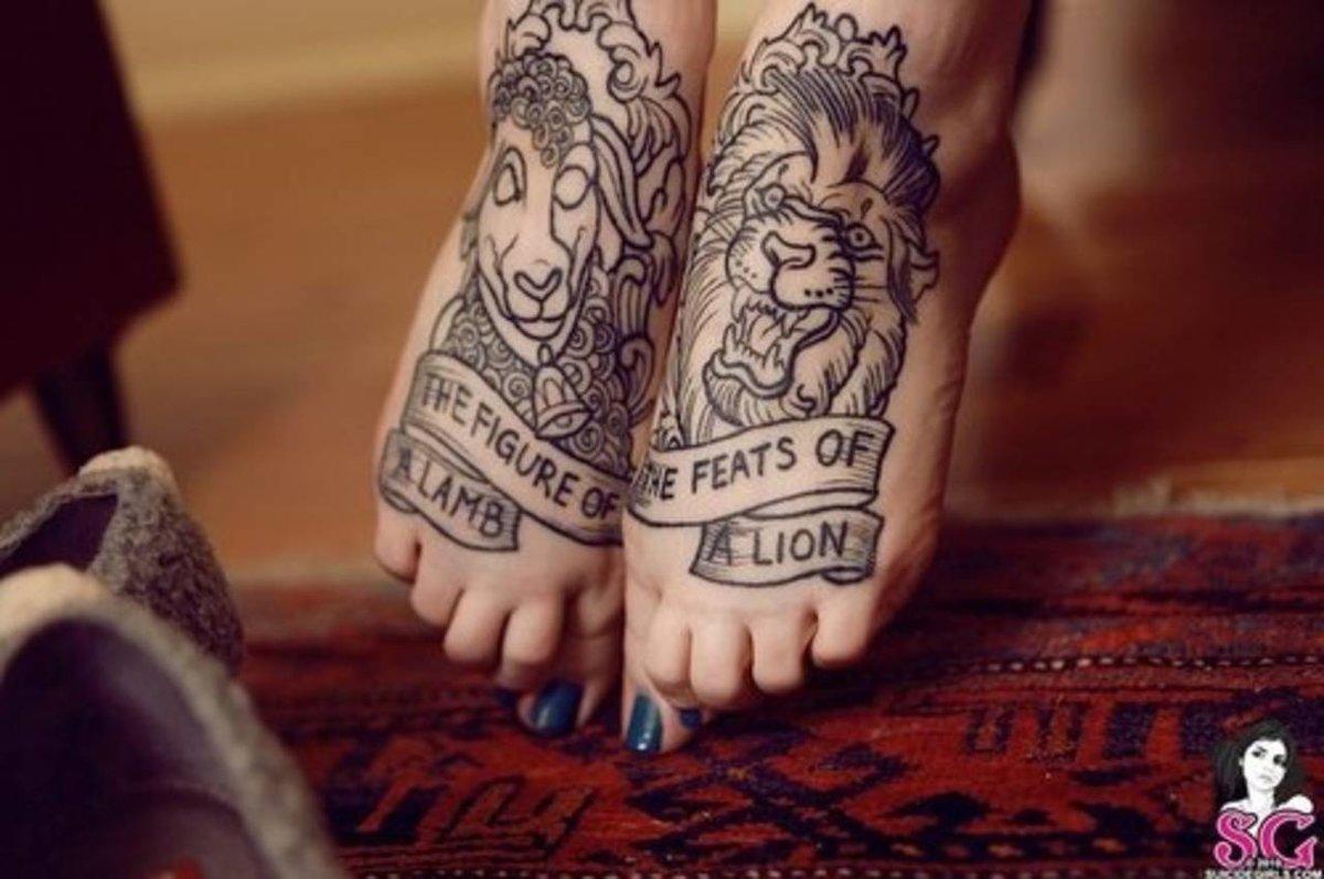 Лев татуировка: значение и фото 75