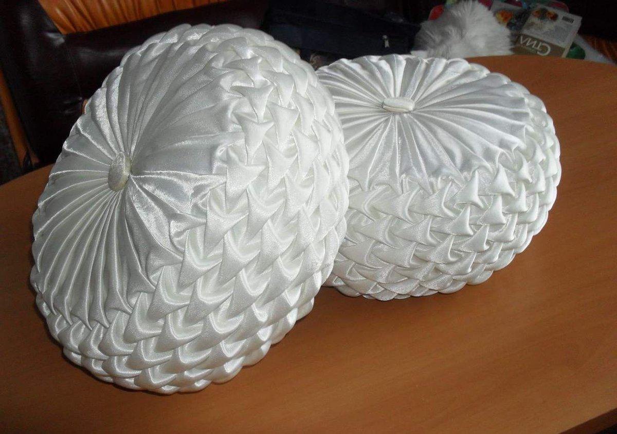 Круглые подушки своими руками фото