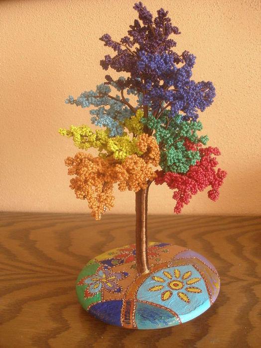 Фото деревья из бисера