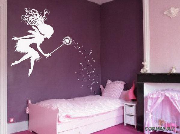 Трафарет для декора детской комнаты