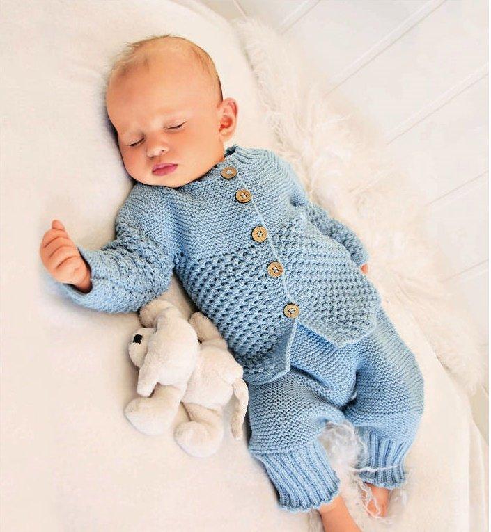 Вязание костюмчика на новорожденного мальчика 888
