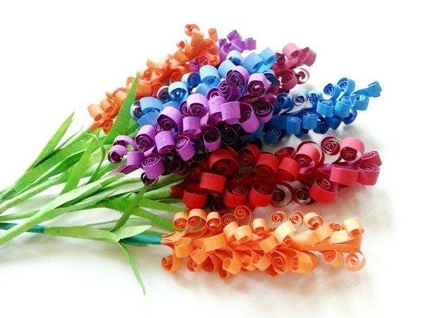 Ребенок букет цветов своими руками