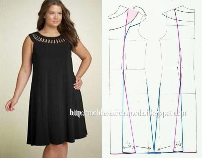 Летнее платье для полной женщины своими руками 25