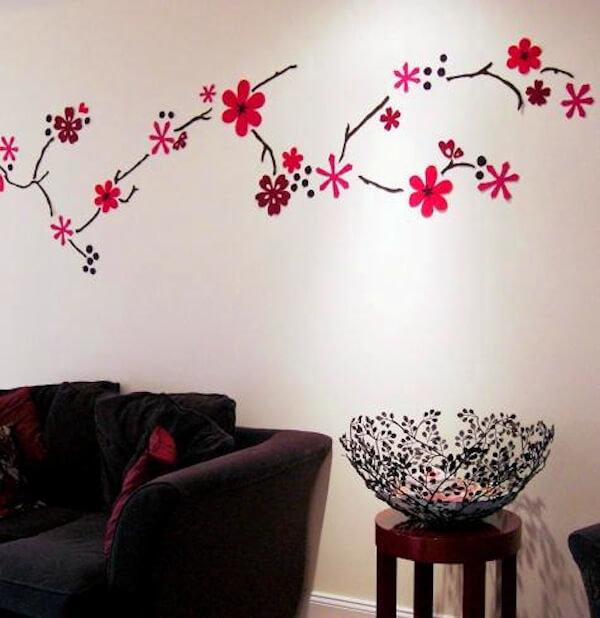 Как украсить стены в комнате рисунком своими руками