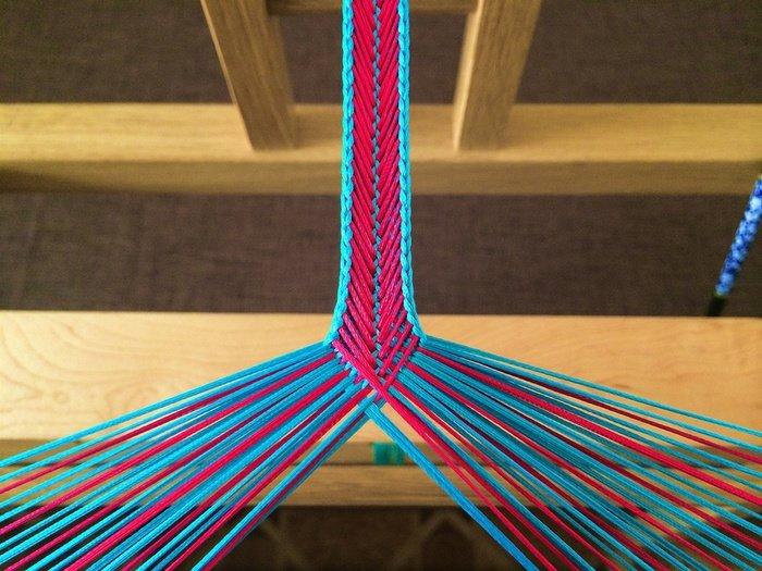 Плетение кумихимо на станке