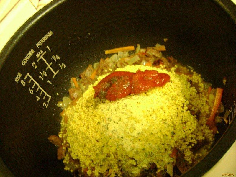 Пшенная каша с мясом в мультиварке рецепт с фото