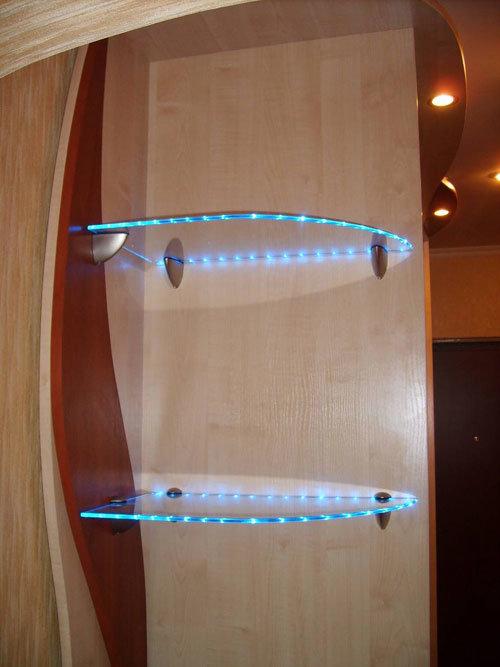Подсветка светодиодами в шкафу своими руками