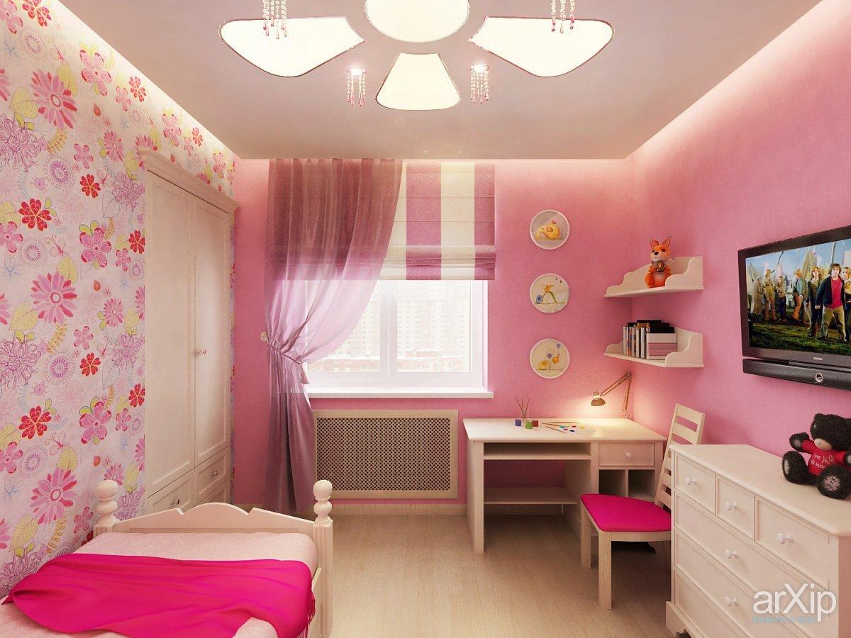 Детская комната для девочки : ремонт, 75 фото идей дизайна 40