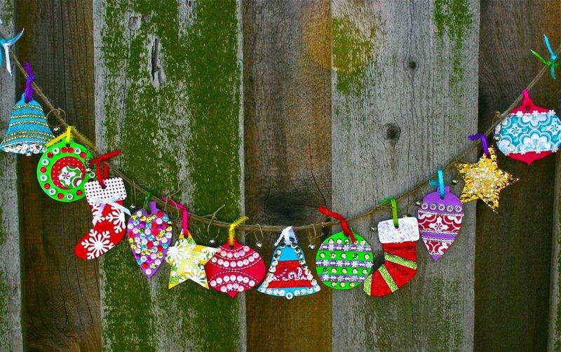 Гирлянда на новый год для детей