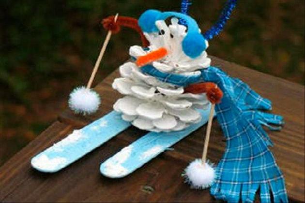 Снеговики поделки  картинки