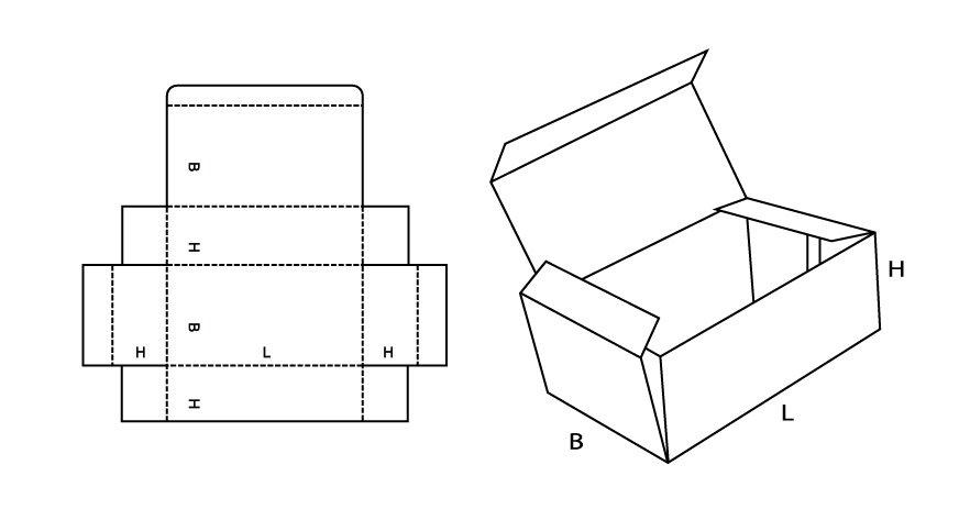 Как сделать коробочку из картона схема с размерами