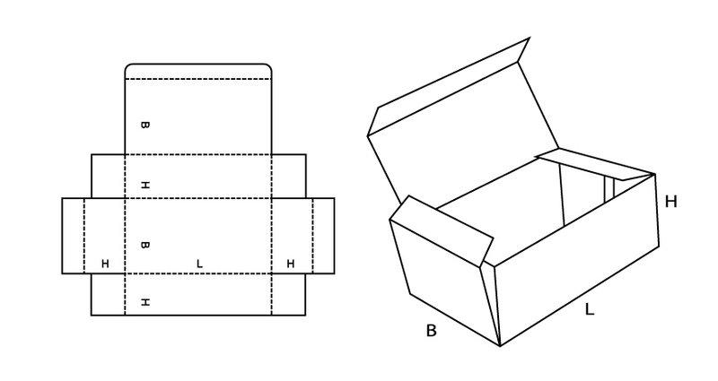 Как сделать коробочку из картона с крышкой большую