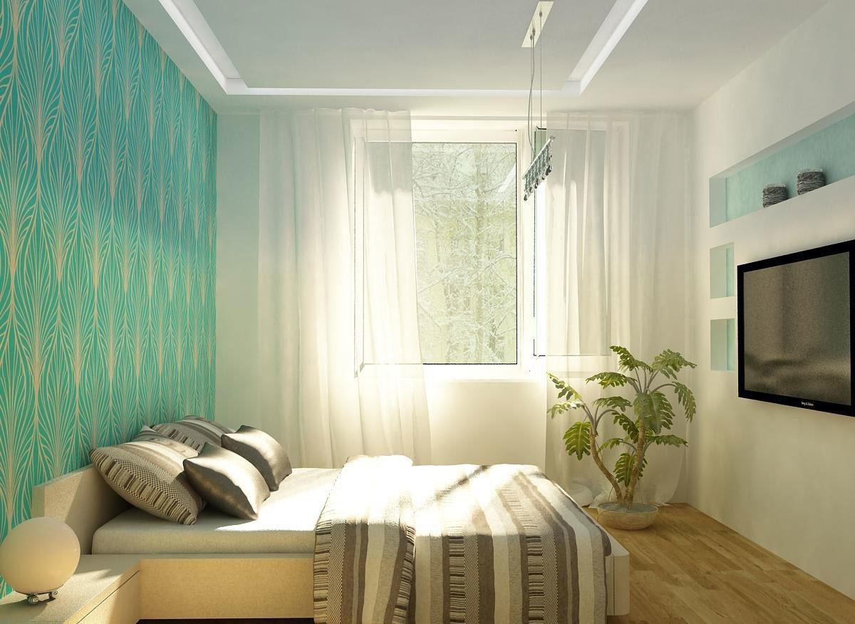Дизайн маленькой спальни фото 2016 современные идеи обои двух цветов