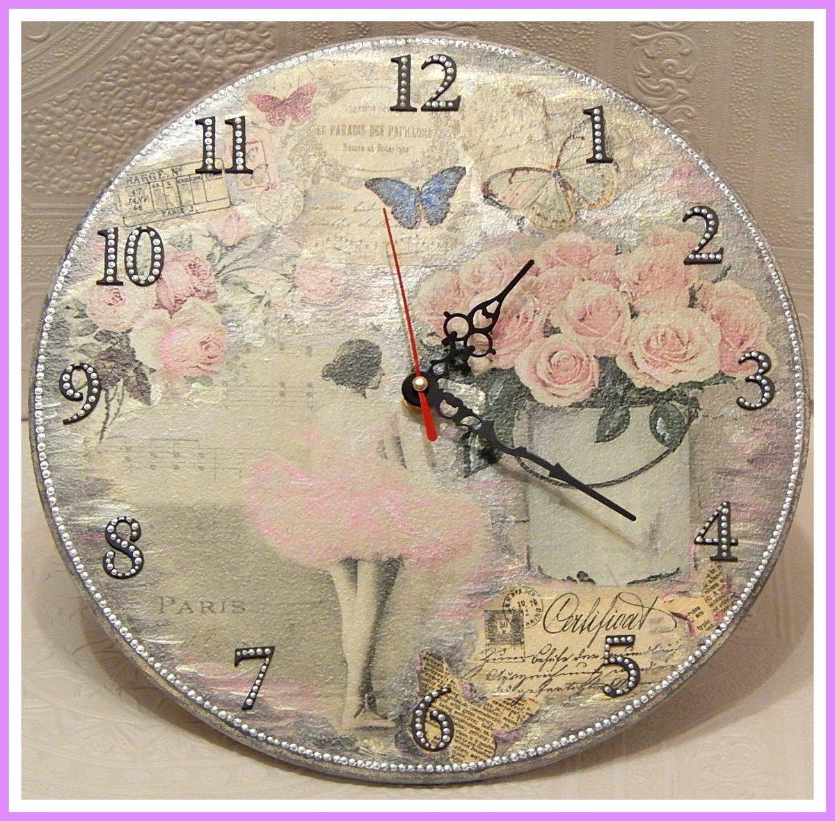 Винтажные настенные часы своими руками 46