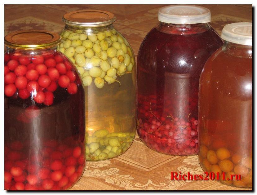 Рецепты компотов из ягод на зиму 111