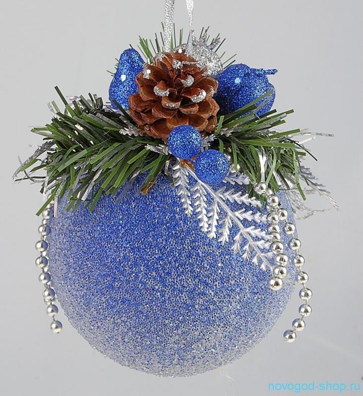 Елочный шар декор своими руками