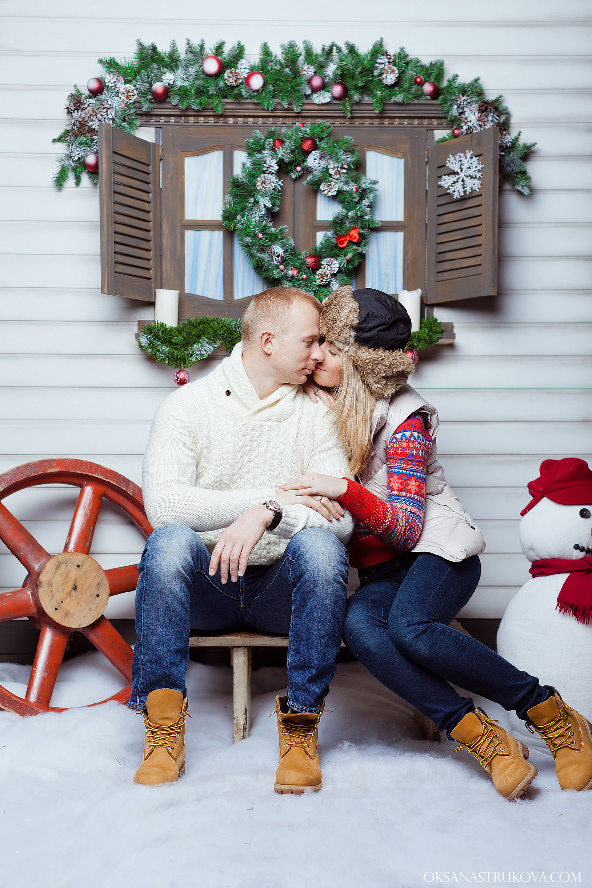 Новогодняя фотосессия с мужем идеи фото