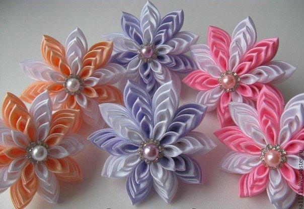 Резинки из атласных лент своими руками канзаши