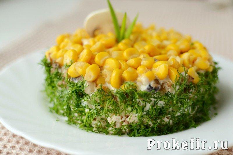 Салат из куриной грудки с ананасом с фото очень вкусный с