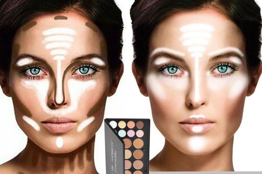 Как выделить контуры лица макияж