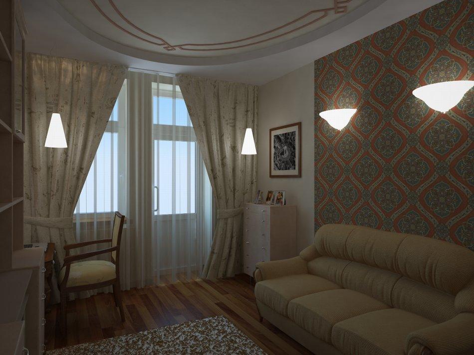 Дизайн спальни 12 кв м с диваном