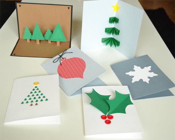 Как сделать из бумаги рождественскую открытку