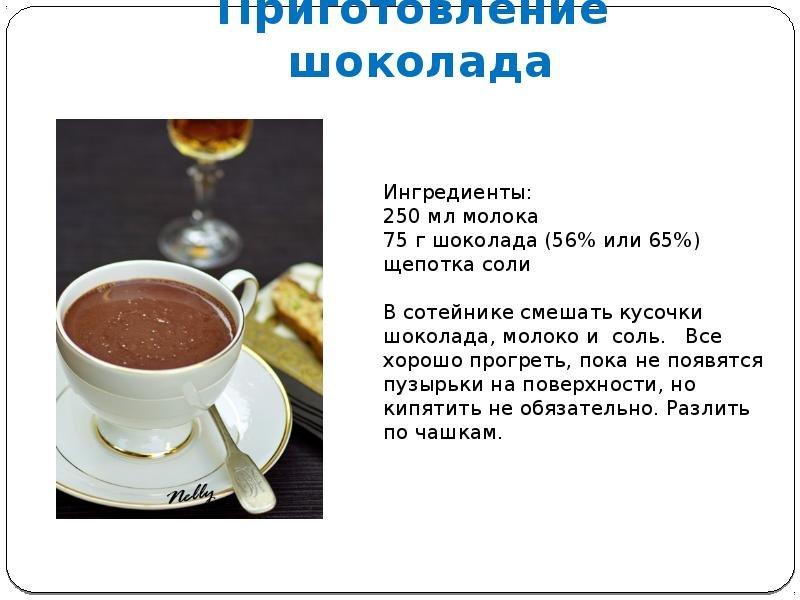 Рецепт приготовления шоколада в домашних условиях