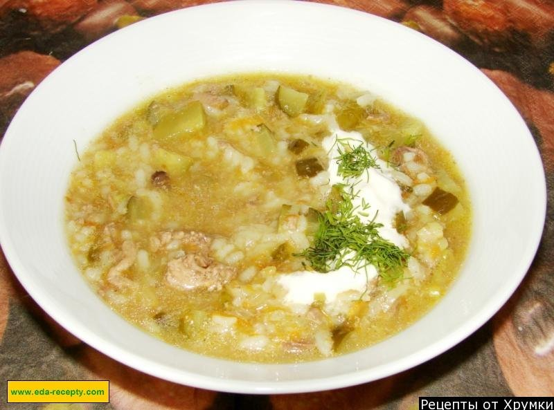 Рассольник с рисом и солеными огурцами рецепт с пошагово в