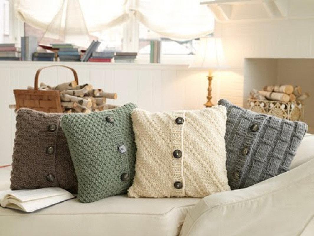 Подушки из старого свитера - 50 прекрасных идей