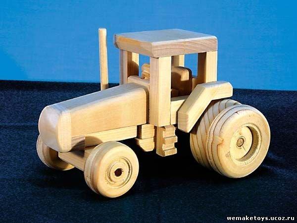 Игрушечный трактор своими руками из дерева
