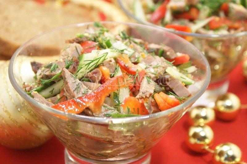 Салат из говядины на новый год 2018 рецепты