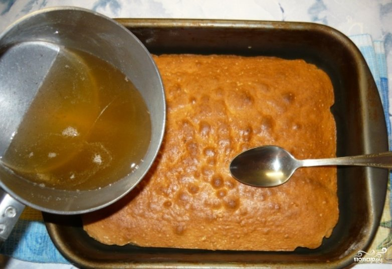 Приготовление сиропов для пропитки бисквитов