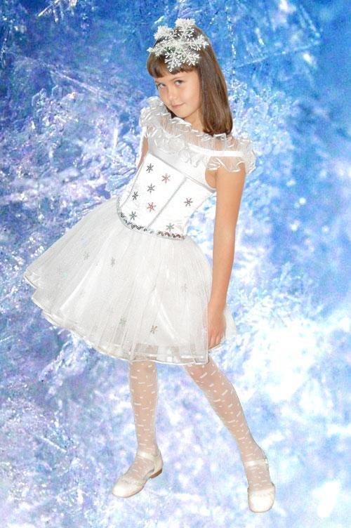 Костюмы на новый год снежинка для девочек