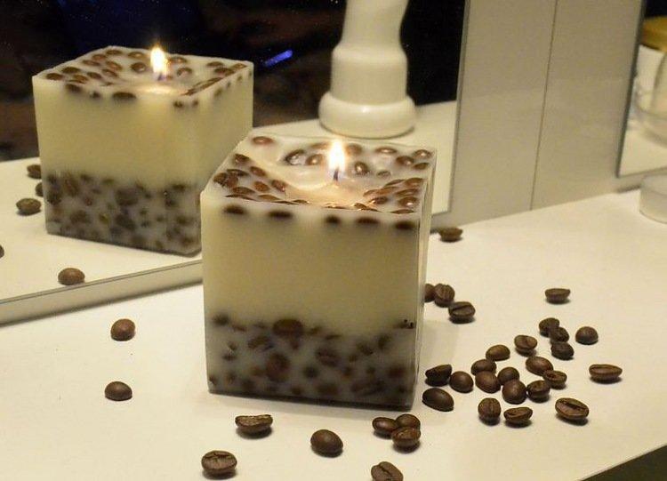 Свечи своими руками кофейную