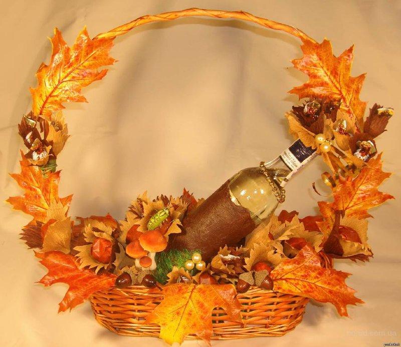 Осенняя поделка корзина